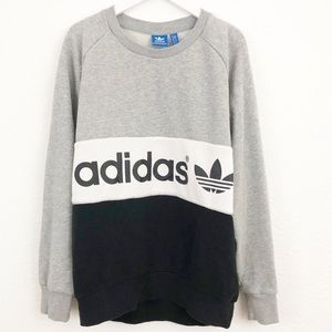 Adidas oversized throwback sweatshirt